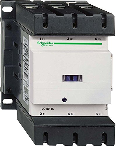 SCHNEIDER ELECTRIC LC1D115G7 CONTACTOR, 3PST-NO, 120VAC, DIN RAIL - Magnetic Din Rail