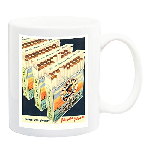 Players Navy Cut Cigarettes 1950 Poster Mug - 11 Fluid Oz (Navy Cut Cigarettes Players)