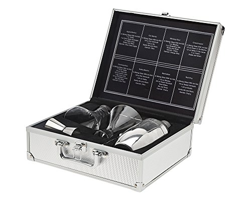 James Scott Liquid Lunch for 2 -Travel Cosmopolitan Cocktail Martini Set-Perfect Gift Item