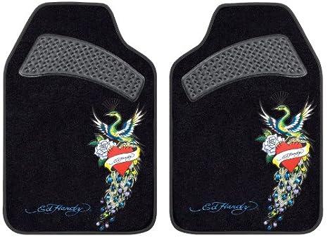 Amazoncom Ed Hardy Peacock Design Car Truck Suv Front Seat Carpet