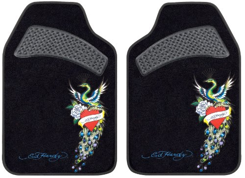 Ed Hardy Peacock Design Car Truck SUV Front Seat Carpet Floor Mats