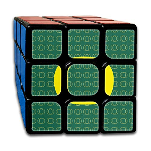 Partrest Green Yellow Circle Rubik Cube Super-Durable with Vivid Colors 5.5x5.5 Cube Easy Turning and Smooth Play Magic Cube Puzzle -