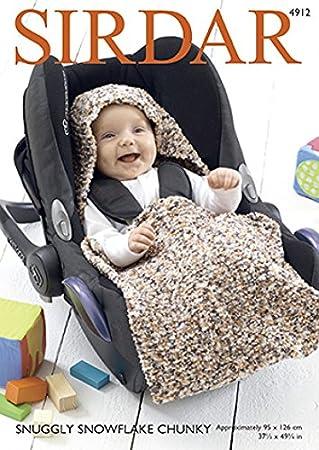 Amazon Sirdar Baby Car Seat Blanket Snowflake Knitting Pattern