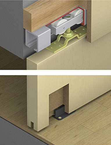 HAWA Junior 120/A Sliding Door Hardware by Hafele, Without The Upper Track, Easy Installation (Hafele Door Hardware)