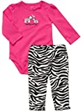 Carter's Baby Girls' Zebra Onesie Pant Set