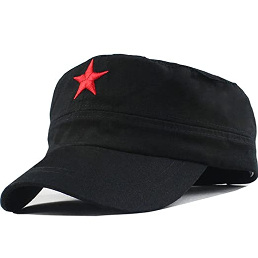 6d73d814c2cf5 Amazon.com  Che Guevara Red Star On Black Cap  Clothing
