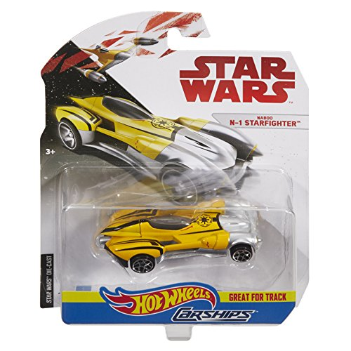 Hot Wheels Star Wars Car Ships Naboo Starfighter ()