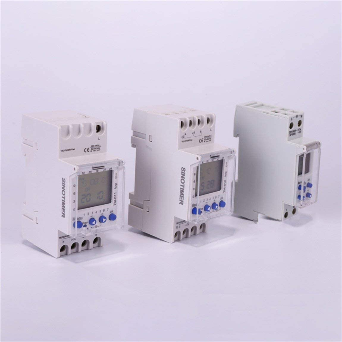 SeniorMar SINOTIMER 220V TM612 Minuterie /à Deux canaux 7 Jours 24 Heures Programmable Horloge /électronique LCD num/érique programmable avec Deux Sorties Relais