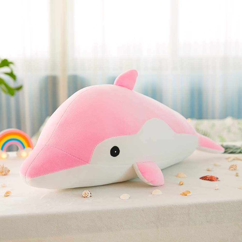 Christmas Birthday 17.7in, pink LZYMSZ Dolphin Stuffed Doll,Animals Plush Stuffed Cartoon Toy Doll,Soft Decorative Cushion Throw Pillow for Sofa//Home Bedroom//Office//Dormitory in Valentines Day