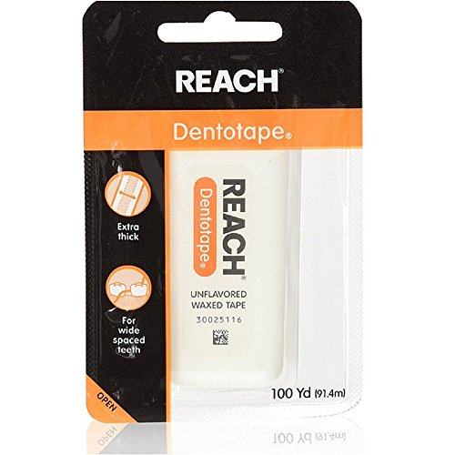 Price comparison product image REACH Dentotape Waxed Tape, Unflavored 100 Yards, (Pack of 5)