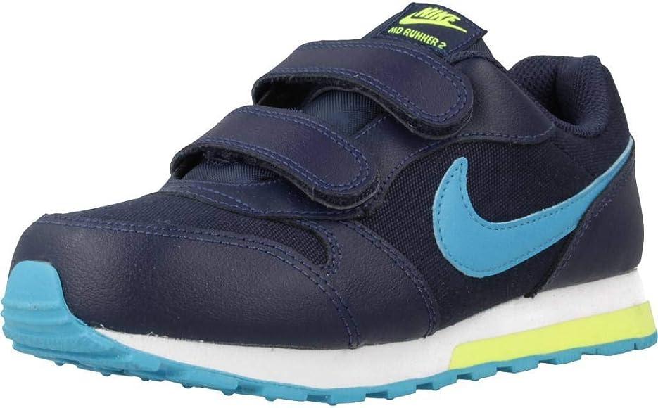 Nike MD Runner 2 (PSV), Zapatillas para Correr Unisex niños, Azul Midnight Navy Laser Blue Lemon 415, 35 EU: Amazon.es: Zapatos y complementos