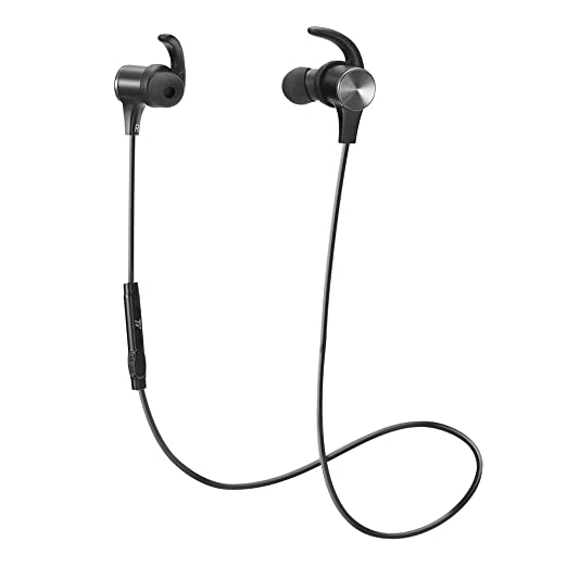 【タイムセール】TaoTronics Bluetooth イヤホン(apt-Xコーデック対応・IPX6防水仕樣・CVC6.0) ノイズキャンセリング 自動ペアリング 高音質 マグネット搭載 スポーツ仕様 TT-BH07 (ブラック)