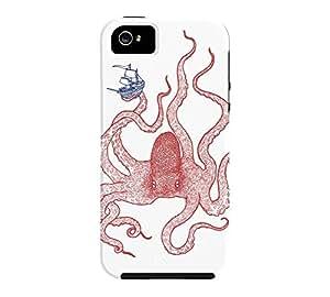 Kraken iPhone 5/5s White Tough Phone Case - Design By Humans