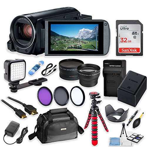 Canon Vixia HF R80 Wi-Fi 1080p HD Video Camera Camcorder + 3