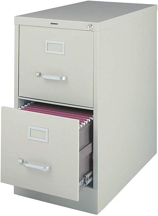 Amazon Com Staples 204076 2 Drawer Vertical File Cabinet Locking