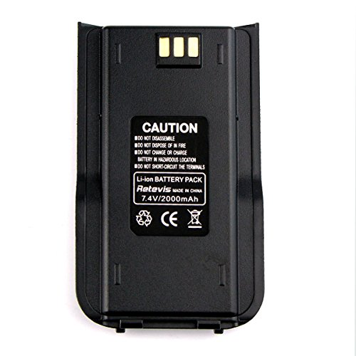 Retevis 2000mAh Two Way Radio Battery for TYT Tytera DMR MD380 Retevis RT3 Walkie Talkie (1 Pack) by Retevis