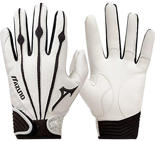 Mizuno Adult Vintage Pro Batting Gloves, White, X-Large
