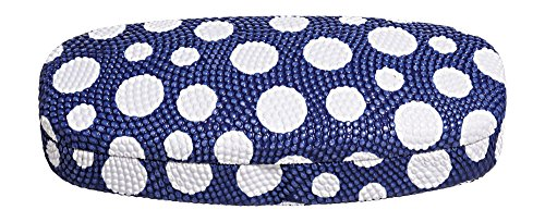 Hard Eyeglass Case, Glasses Holder For Women, Men, Girls, Boys- Polka Dot, - Blue Eyeglasses Women For