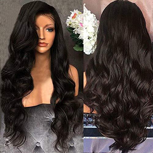 YLCOYO New Fashion Black Brazilian Remy Hair Body Wave Hair Wigs