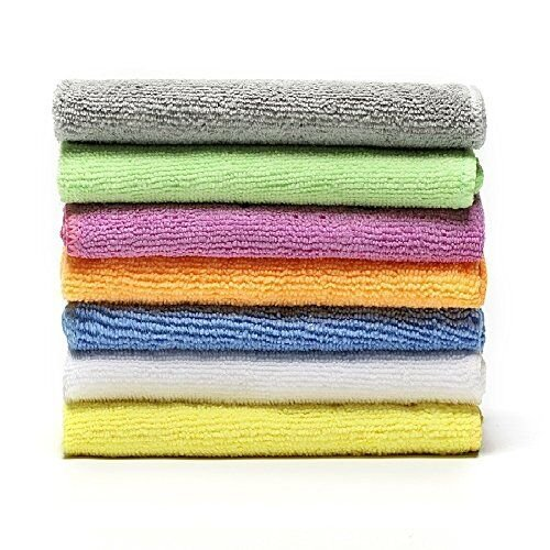 Microfiber Face Towels Washcloths (7-Pack 12x12