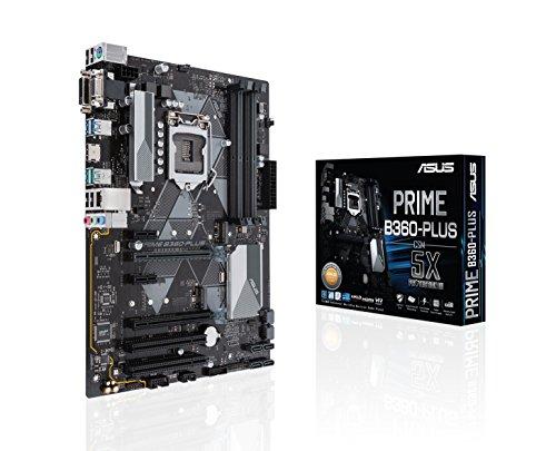 ASUS Prime B360-Plus LGA1151 (300 Series) DDR4 HDMI DVI VGA M.2 ATX Motherboard (Prime B360-PLUS)