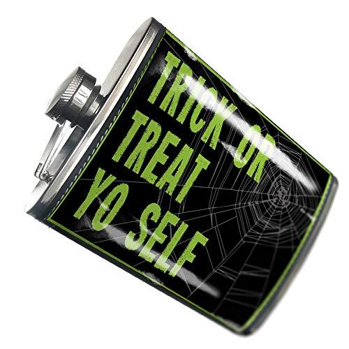 NEONBLOND Flask Trick or Treat Yo Self Halloween