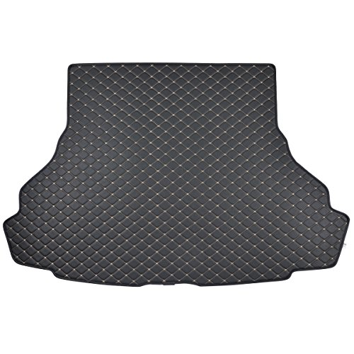 Ford Mustang Trunk Mat - Motor Trend PM-402 Custom Exact Fit Luxury Padded PU Leather Leatherette Trunk Mat Cargo Liner (for Ford Mustang 2015-2016)