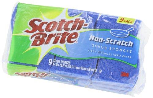 Scotch-Brite Non-Scratch Scrub Sponge, 9-Sponges/Pk, 2-Packs (18 Sponges Total)