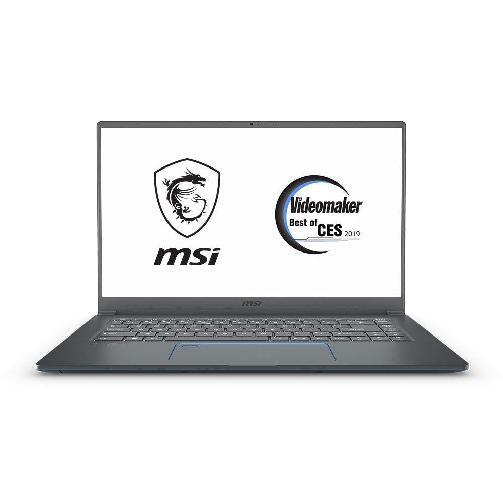MSI PS63 Modern-091 15.6 Ultra Portable Creative Laptop, Intel Core i7-8565U, GTX 1050Ti, 16GB, 1TB SSD, Win10P, White Backlit KB, Silky Glass Touchpad Fingerprint Reader, Grey w Blue Diamond Cut