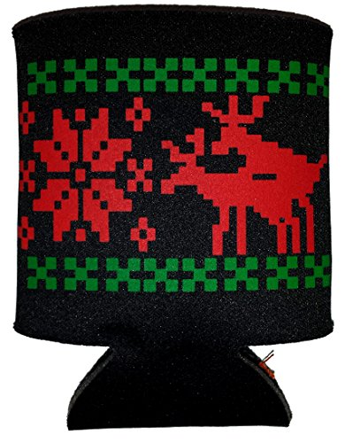 Black Humping Sex Reindeer Huggie Can Cover Party Ugly Sweater Christmas Beer from ThatsRad
