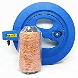KENGEL Blue Kite Ballbearing Reel Line Winder Grip Wheel + 660FT Tire Line Kite Flying Combos.More suitable for children to master!