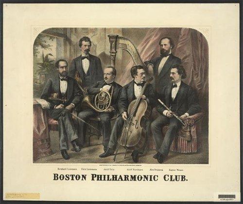 Photo: Boston Philharmonic,Bern. Listemann,Fritz,Adolf Belz,Hartdegen,Freygang,Weiner