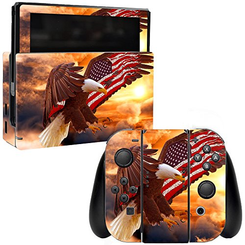 MightySkins Skin Compatible with Nintendo Switch - Bald Eagle   Protective, Durable, and Unique Vinyl Decal wrap Cover   Easy to Apply, Remove, and Change Styles   Made in The USA