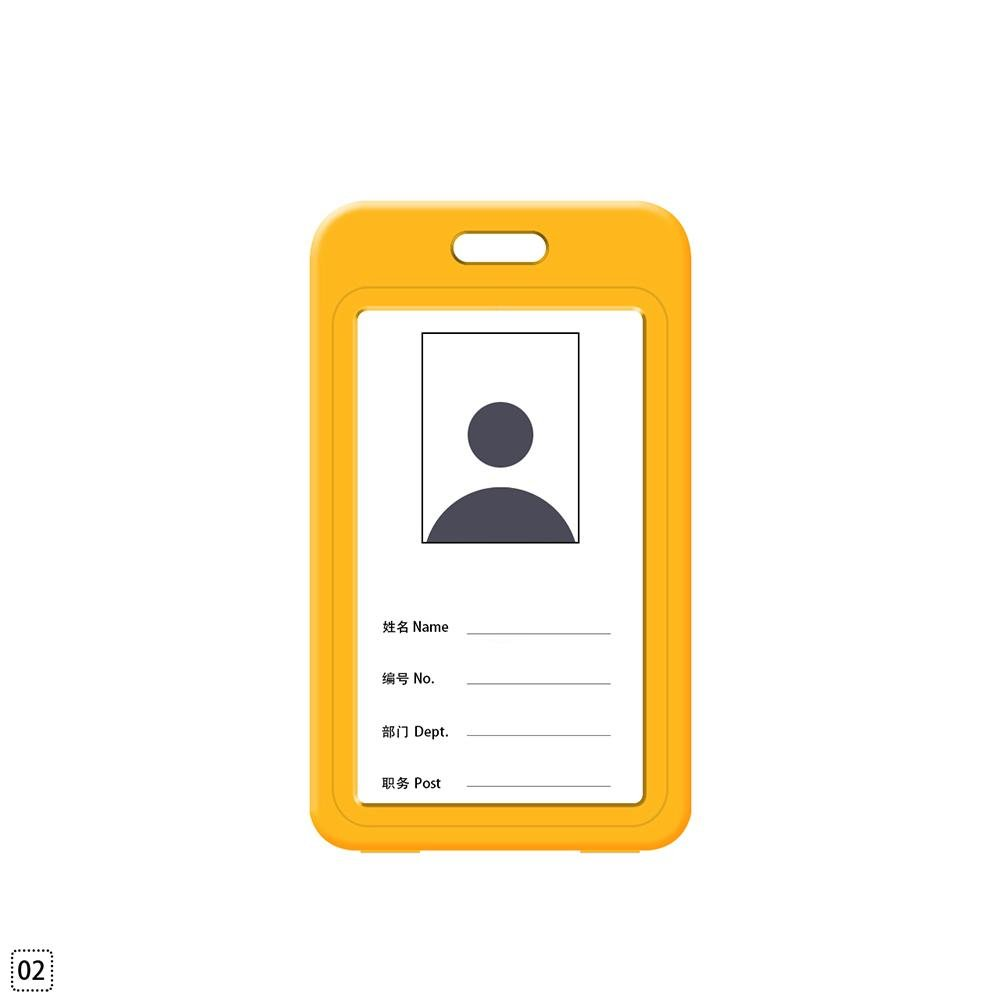 RUNMIND Portable Vertical Waterproof ID Certificate Card Badge Holder Employee Name Tag Yellow