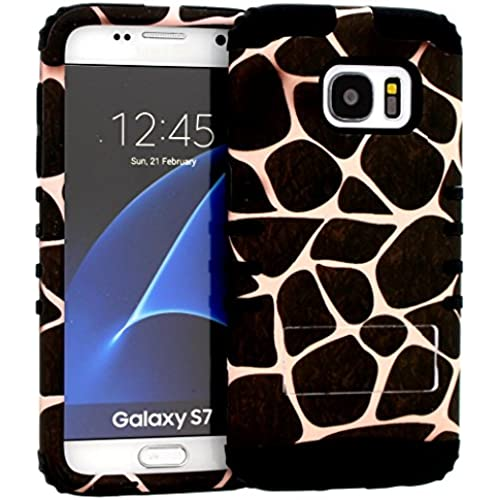 Galaxy S7 Case, Hybrid Heavy Duty Rugged Armor Kickstand Shock Proof Impact Resistant Grip Cover for Samsung Galaxy S7 (Giraffe / Black) Sales