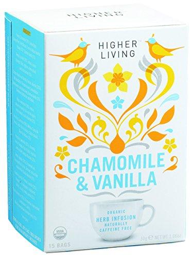 Higher Living Organic Tea Caffeine Free Chamomile & Vanilla -- 15 Tea Bags