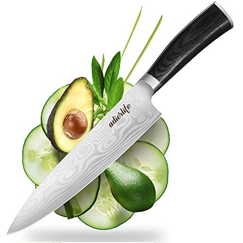 MIZOO Pro Kitchen 8 inch Chef's Knife High Carbon Stainless Steel Sharp Knives