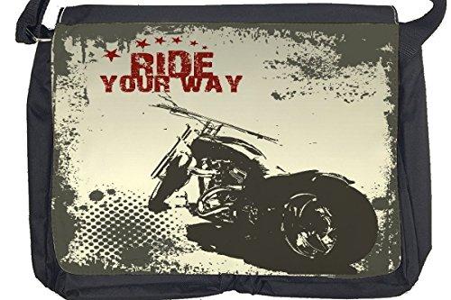 Borsa Tracolla Moto Garage Giro in moto Stampato