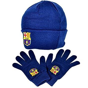 d49dd4fc745 FC Barcelona Winter Warmers Beanie Hat   Glove Set  Amazon.co.uk  Sports    Outdoors