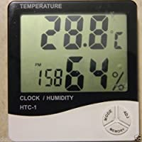 HTC Hygrometer and Thermometer Clock for Humidity and Temperature Display