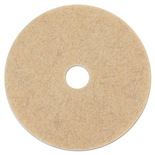 """Ultra High-Speed Natural Hair Extra Floor Pad, 24"""" Diameter, Natural, 5/carton"""