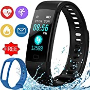 Fitness Tracker Heart Rate Blood Pressure Oxygen Sleep Monitor IP67 Waterproof GPS Activity Tracker for Women Men Kid Outdoor Run Pedometer for Android iOS Sport Smart Watch with Free
