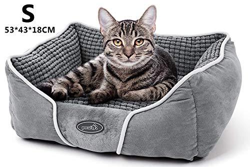 Pecute Hundebett Haustierbett für Katzen und Hunde Rechteck Ultra Weicher Plüsch luxuriöse Haustier-Schlafsack Maschine…