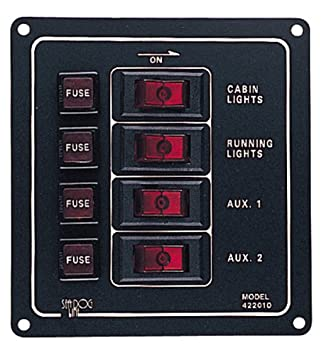 51Vkz2rwsmL._SY355_ amazon com sea dog 422010 1 aluminum vertical 4 switch panel sea dog switch panel wiring diagram at alyssarenee.co