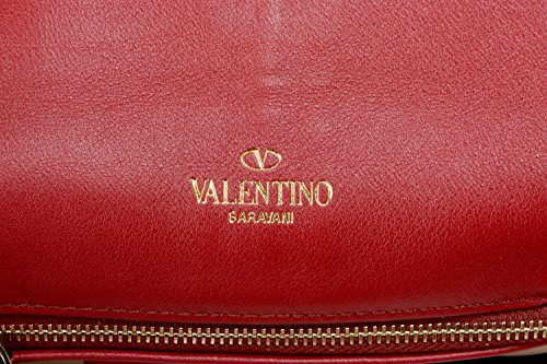 Garavani Bag Clutch Women's Handbag Leather Valentino 100 Red 7d7wS