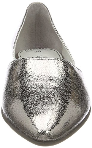 Metal Con pewter Argento Tacco Scarpe oliver S Donna 24222 nwtCq4p1x8