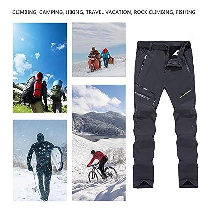 Naudamp Women's Outdoor Quick Dry Hiking Trousers Winter Softshell Windproof Fleece Lined Walking Climbing Pants 7