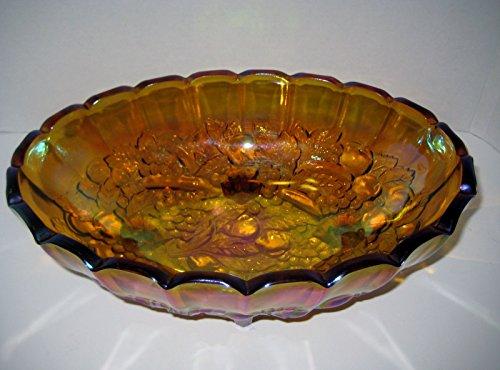 Carnival Grape Harvest Indian Glass Company Fruit Bowl