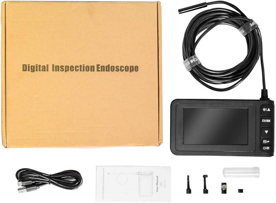 HD 1920 x 1080P Digitale 8.0mm IP67 Impermeabile con batteria ricaricabile Inskam129 Portatile 5M Schermo LCD 4.3 pollici Endoscopio Cavo Rigido Telecamera dispezione