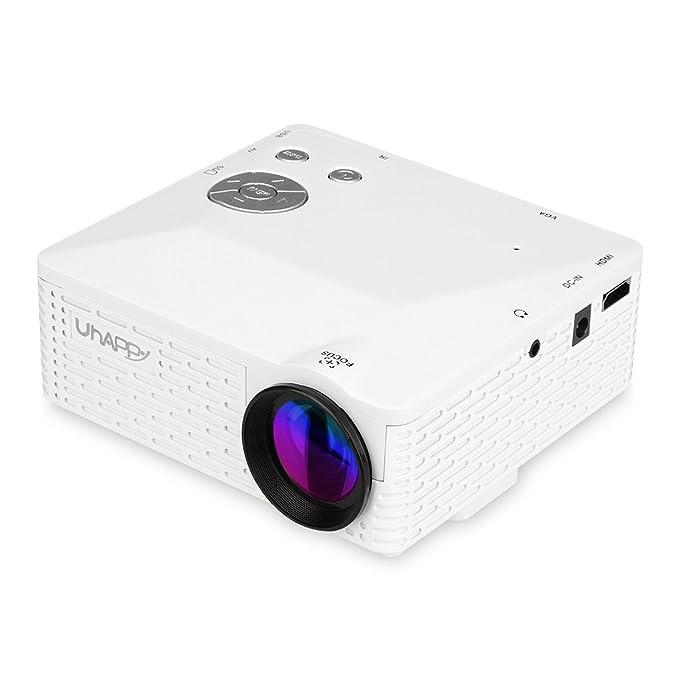 Uhappy BL18 - Mini Proyector Portátil (24W, 60 Lumenes, LED, LCD ...